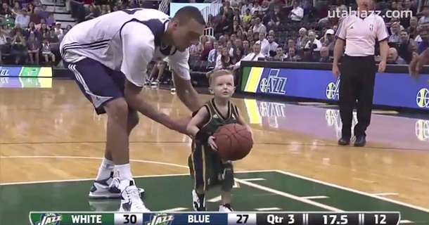Amazing Five-Year-Old Joins NBA Team On The Court